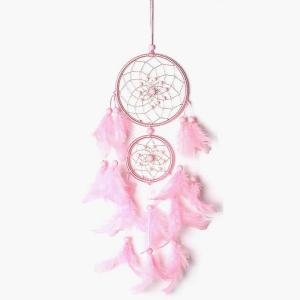 Dreamcatcher with Pink Feather
