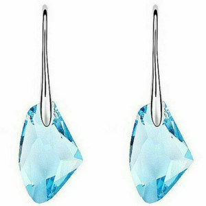 Aqua Blue Crystal Earrings