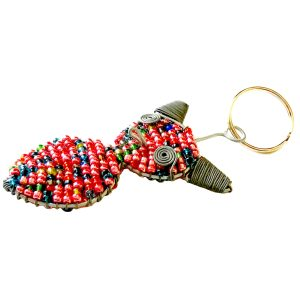 Beaded Owl Key Chain