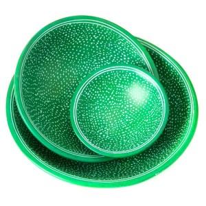 Decorative Round Soapstone Plates – Emerald Celestial Design