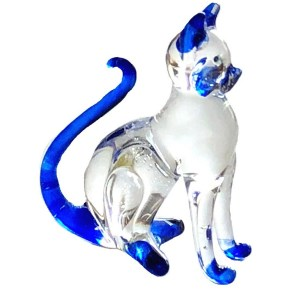 Glass Sitting Cat