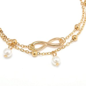 Gold Color Anklet with Infinity Sign