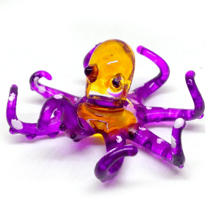 Glass Purple Octopus