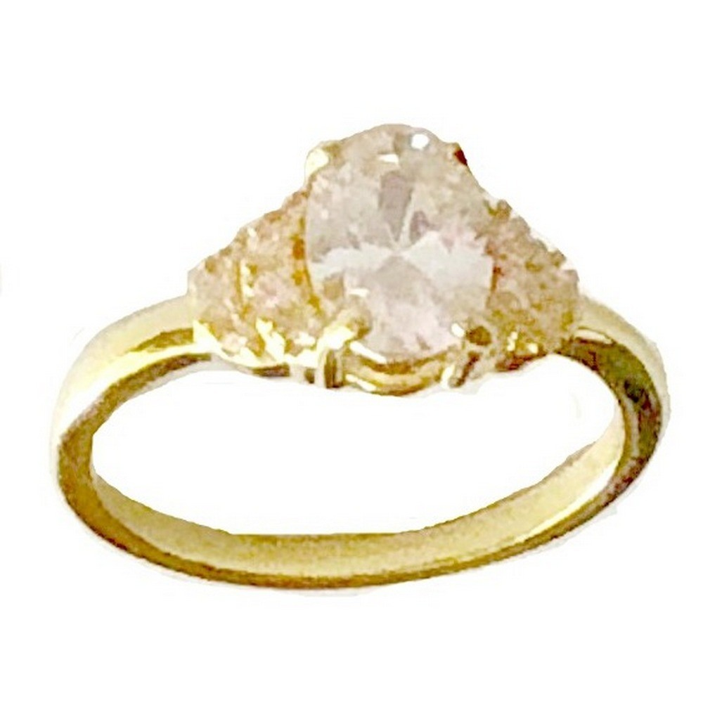 Ring - Gold Plated with Cubic Zirconia Stones