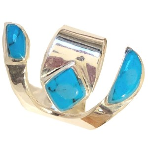 Ring – Silver and Turquoise Stones
