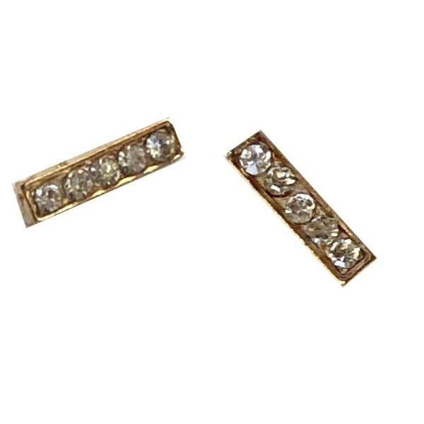 Small Rhinestone Gold Plated Stud Earrings