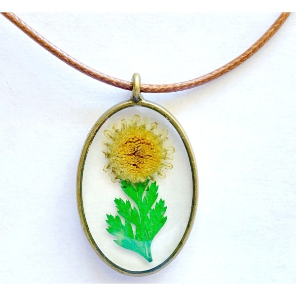 Pendant - Glass with Real Flowers