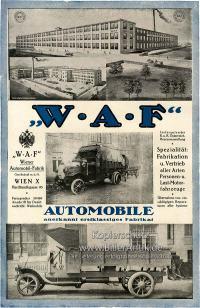 WAF Wiener Automobil Fabrik K&K Lastmotorfahrzeuge Plakat ...