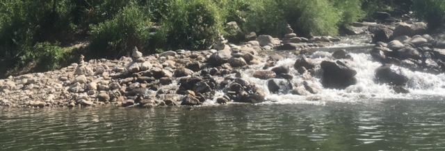 Cool stacking rocks along the way.