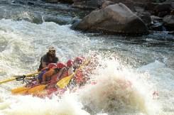 Getting slammed in the rapids - Ha, so fun!