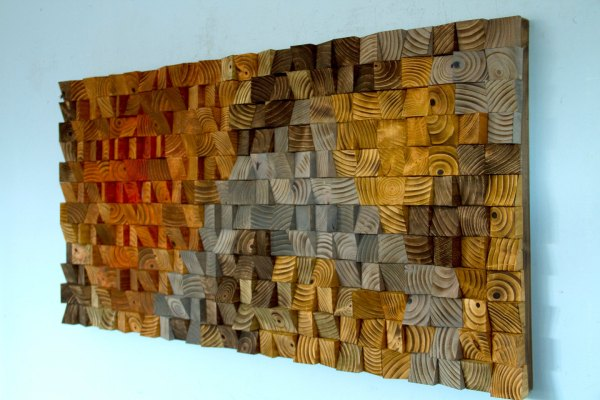 Abstract Wood Sculpture Wall Art
