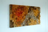 Large Rustic Art, wood wall sculpture, abstract painting ...