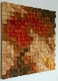 Large Rustic wood wall Art, wood wall sculpture, abstract ...
