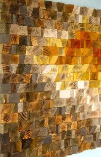 Large Wood wall Art, wood mosaic, geometric art, large art