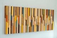 Mid Century wall art, reclaimed wood art sculpture ...