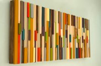 Mid Century wall art, reclaimed wood art sculpture, SALE ...