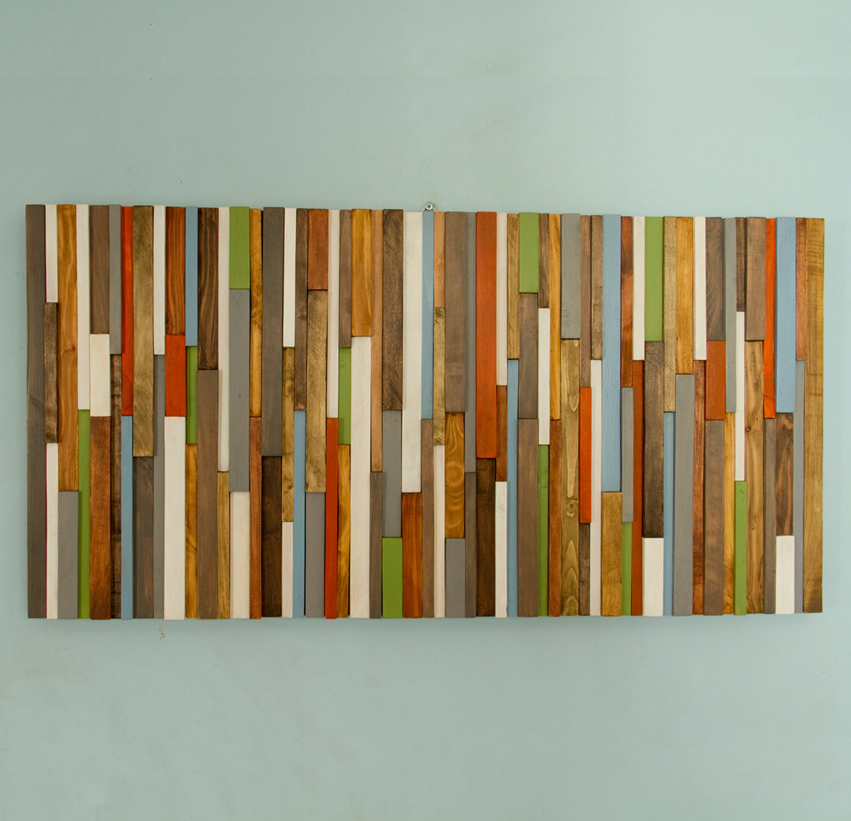 Modern Headboard Wood Wall Art Sculpture, earth tones