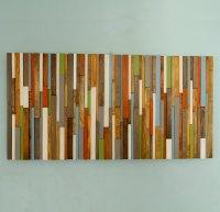 Modern Headboard Wood Wall Art Sculpture, earth tones