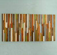 Modern Headboard Wood Wall Art Sculpture, earth tones ...