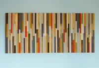 Modern Headboard Wood Wall Art Sculpture, king headboard