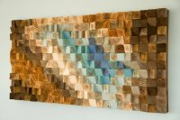 Modern Wood wall Art, wood mosaic, geometric art  Art Glamour