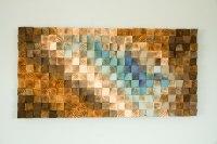Modern Wood wall Art, wood mosaic, geometric art, wood ...