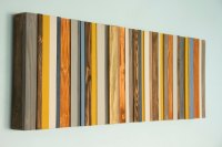 Reclaimed Wood Art, Modern office decor, reclaimed wood