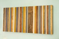 Reclaimed Wood Wall Art  Rustic Wood Decor, Modern wood ...