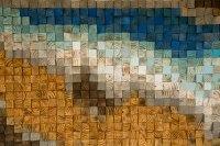Reclaimed Wood wall Art, wood mosaic, geometric art, wood