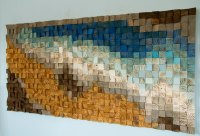 Reclaimed Wood wall Art, wood mosaic, geometric art, wood