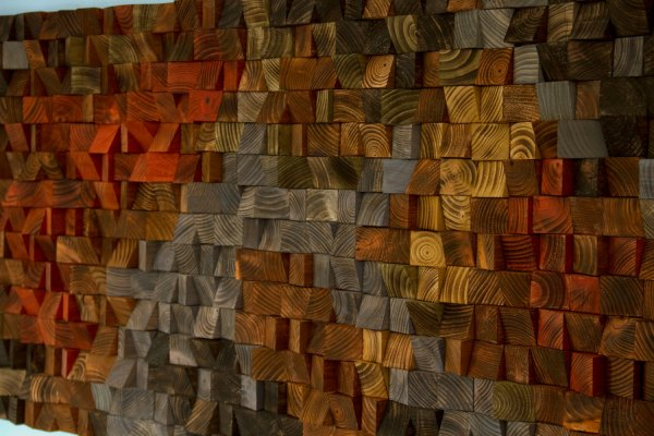 Rustic Wood Art Wall Sculpture Abstract Painting