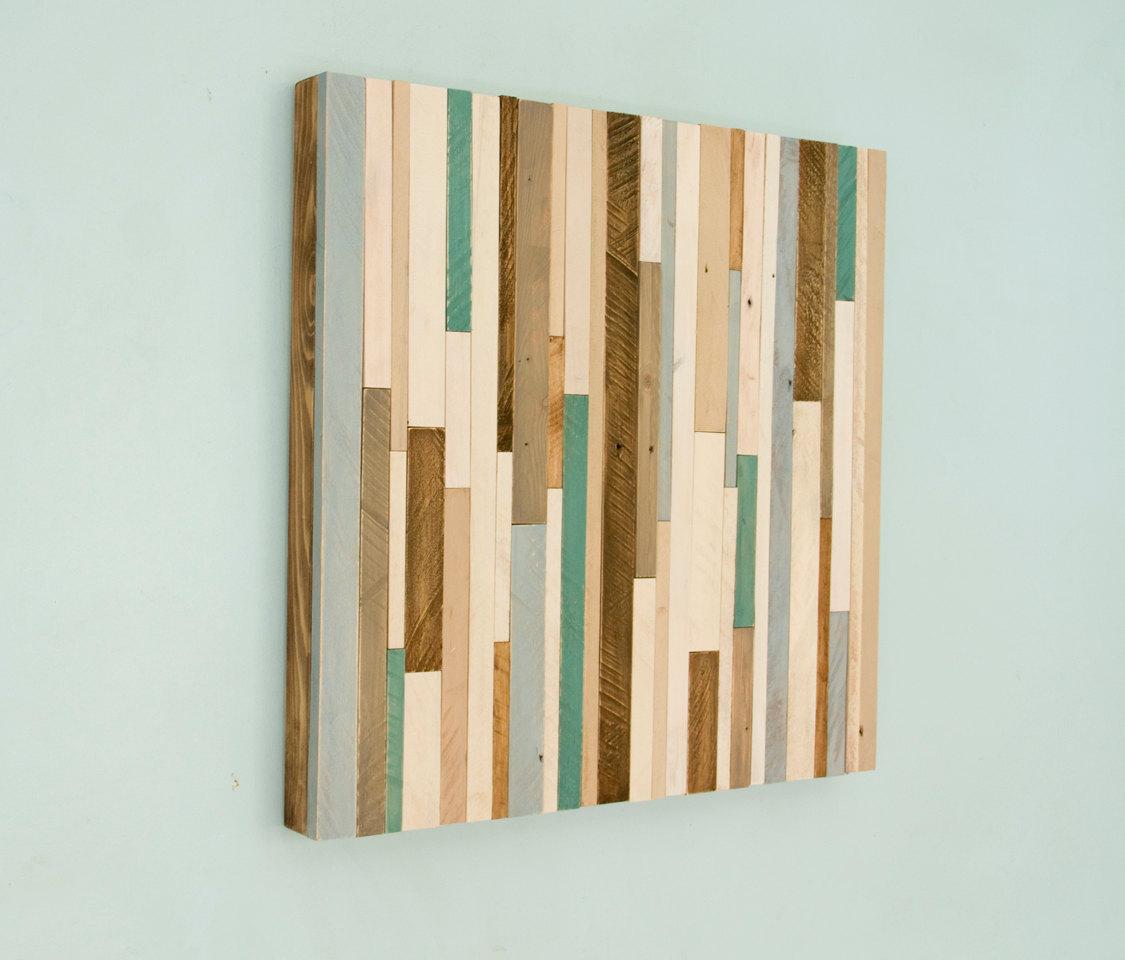 "Rustic wood Wall Art, reclaimed wood decor 20"" x 20"