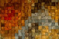 Modern Wood wall Art, wood mosaic, geometric art, wood
