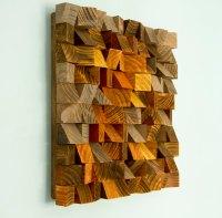 Wood Wall Art, geometric wood art, industrial decor ...