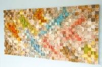Wood Wall Art, geometric wood art, mosaic, mid century ...