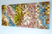 Wood Wall Art, geometric wood art, mosaic, Spring 2016