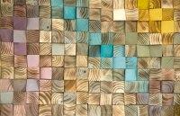 Wood Wall Art, mosaic wodd art, geometric wall art  Art