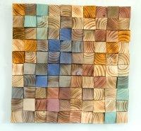 Wood Wall Art, mosaic wodd art, geometric wall art  Art ...