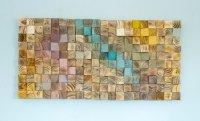 Wood Wall Art, mosaic wood art, geometric wall art  Art