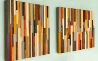 Wood Wall Art Sculpture 3D Abstract Wood Sculpture