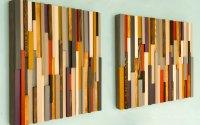 Wood Wall Art Sculpture 3D Abstract Wood Sculpture ...