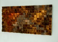 Wood wall Art, wood sculpture mosaic, geometric art  Art ...