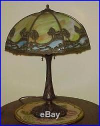 Antique Leaded Slag Glass Arts & Crafts Chicago Mosaic ...