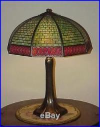 Antique Vintage Arts & Crafts Handel Leaded Slag Glass ...