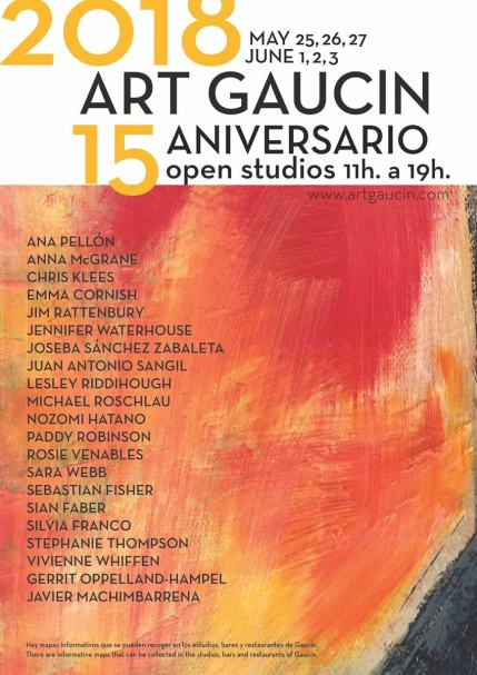 2018 Open Studios Gaucin! I am in!