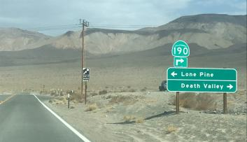 Street leading to Death Valley
