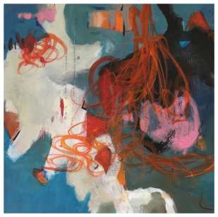 Orange dancing 2 (50x50 x 4 cm), 325€
