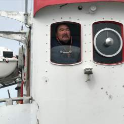 the captain of the fisherboat from Sissimut
