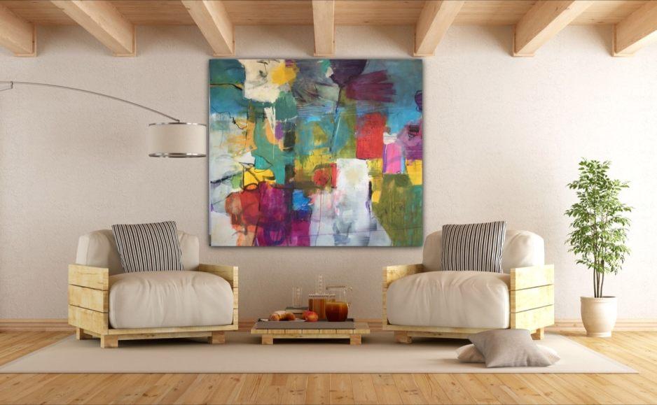 See the painting in a room – Schauen Sie sich das Bild in einem Raum an –