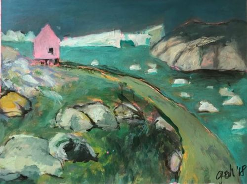 1. Pink house at the fjord
